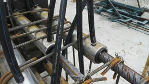 Grout Coupler on Site